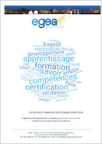 Catalogue formations EGEA 2018