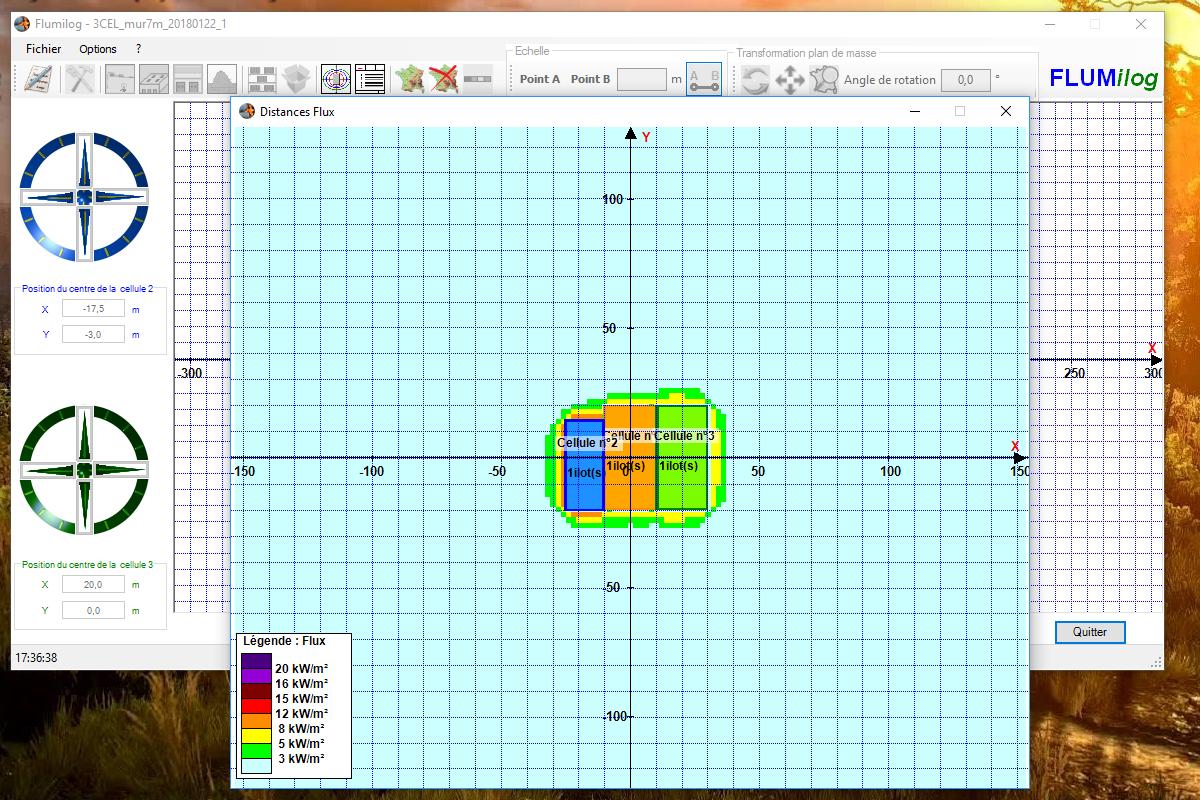 Interface du logiciel FLUMILOG développé par l'INERIS