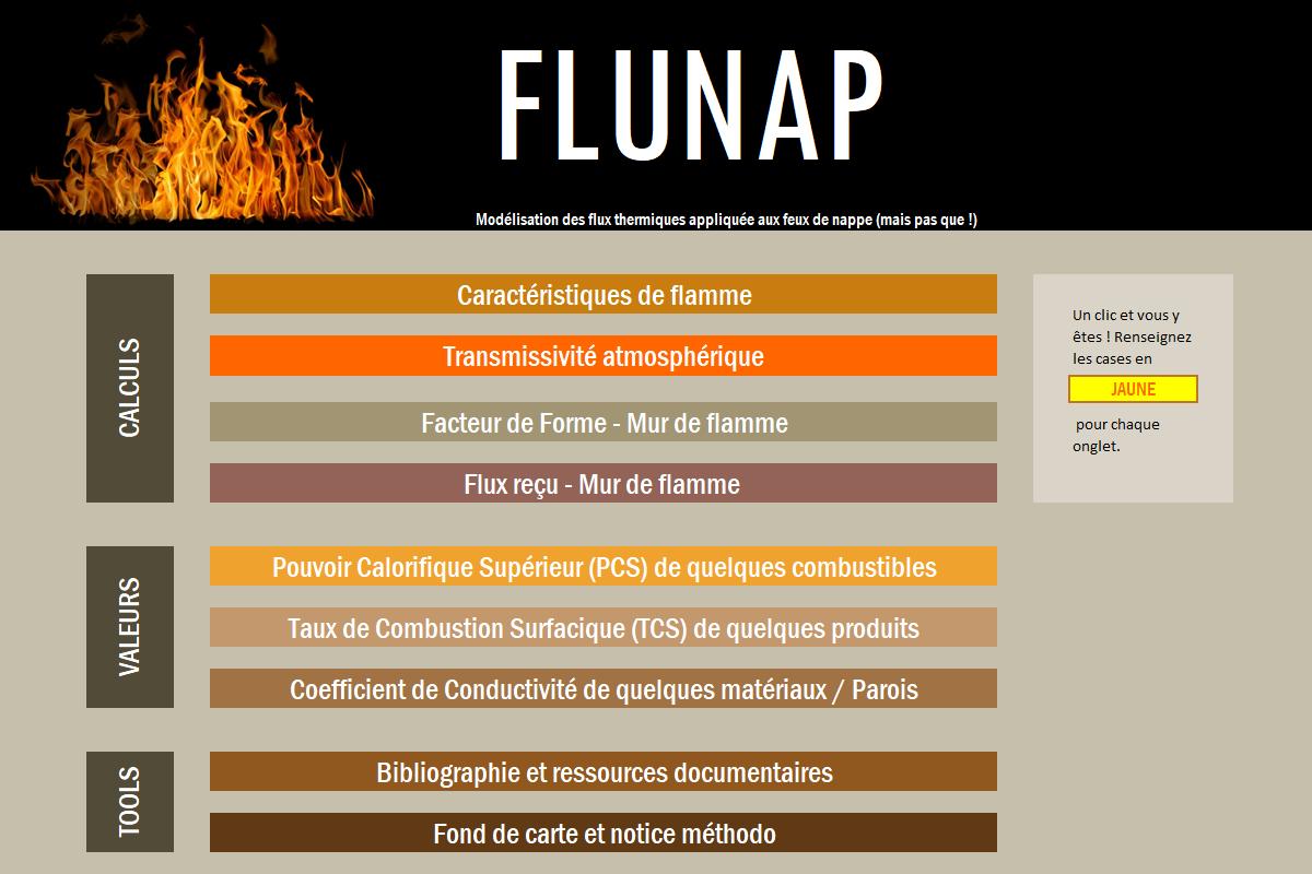 Interface du logiciel FLUNAP développé par EGEA